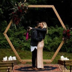 Holz Traubogen Hexagon kaufen b2b